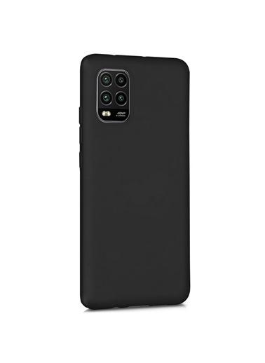 Microsonic Matte Silicone Xiaomi Mi 10 Lite Zoom Kılıf Siyah